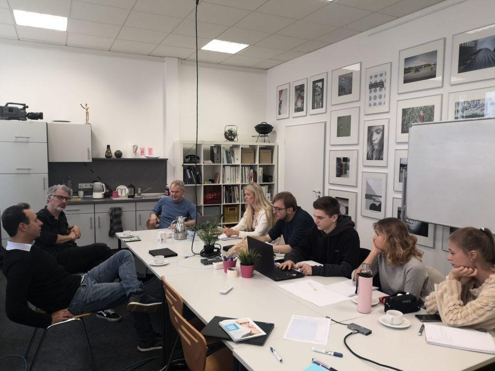 Briefing von Radio Bielefeld an der FHM